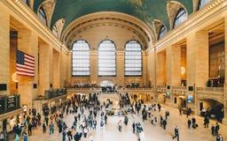 在盛大中央终端里面在曼哈顿,纽约 免版税库存图片