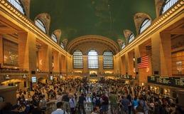 在盛大中央终端的繁忙的下午,纽约 免版税图库摄影