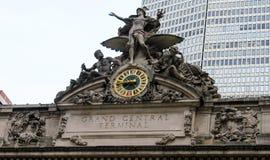 在盛大中央终端,曼哈顿, NYC的时钟 免版税库存图片