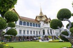 在盛大宫殿复合体的玛哈Chakri Prasat大厦 库存图片