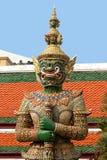 在盛大宫殿的雕象,曼谷 免版税库存图片