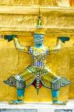 在盛大宫殿,曼谷的一个雕象 免版税库存照片
