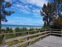 在盛大弯,加拿大的海滩 免版税库存照片