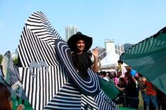 在盛大结局游行的大帽子 免版税库存图片