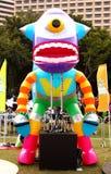 在盛大结局游行的机器人 免版税库存图片