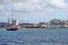 在盛大Caymen的风船 免版税图库摄影