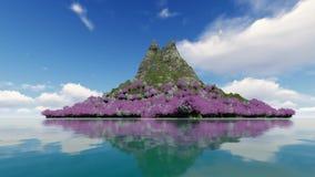 在盛开的樱花在mountaint 影视素材