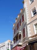 在直布罗陀的岩石的大街入口的向地中海 免版税图库摄影