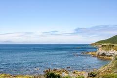 在直布罗陀的海的全景视图向非洲 免版税库存图片