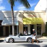 在相当大道价值的日常生活,棕榈滩 免版税库存照片