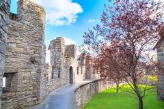 在看法里面的Gravensteen城堡在跟特,比利时 免版税库存照片