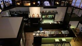 在看法-巴登-巴登上的豪华餐馆 股票视频
