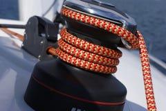 在看见的游艇航行 免版税库存照片