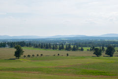 在看起来乡区的空中图象在葛底斯堡,宾夕法尼亚 库存照片