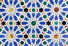 摩尔人陶瓷砖 免版税库存图片