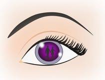 在眼睛的反映 库存例证