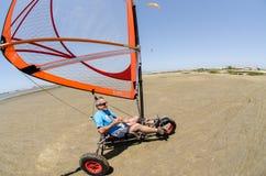 在着陆风筝的弗朗西斯科肋前缘 图库摄影
