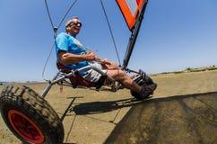 在着陆风筝的弗朗西斯科肋前缘 库存照片