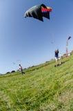 在着陆风筝的Leonardo努涅斯 库存图片