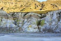 在睡觉火山里面 免版税图库摄影