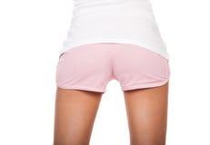 在短的短裤的秀丽屁股 库存图片