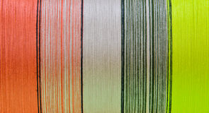 在短管轴的丝绸线程数 免版税库存照片