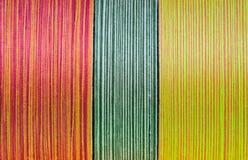 在短管轴的丝绸线程数 免版税库存图片