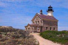 在石块海岛, RI的北部光 免版税库存照片