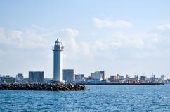 在石垣,日本的灯塔 免版税库存图片