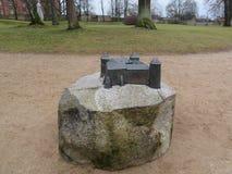 在石头的假装Cessian城堡 库存图片