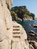 在石头的台阶 免版税库存图片