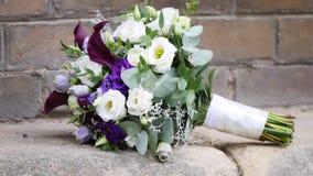 在石头的婚礼花束 影视素材