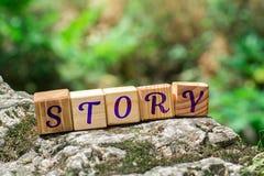 在石头的词故事 免版税图库摄影