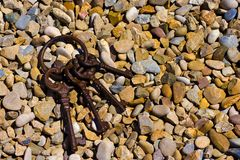 在石头的钥匙 免版税库存照片