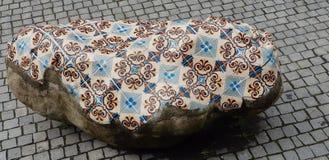 在石头的马赛克 图库摄影
