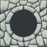 在石无缝的样式的框架 库存照片