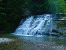 在石溪国家公园的瀑布在纽约州 库存图片