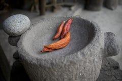 在石灰浆的辣椒 免版税图库摄影
