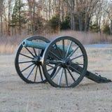 在石头河战场的大炮 库存照片