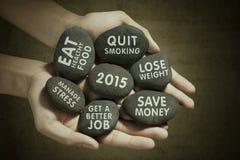 在石头的新年视觉 免版税库存图片