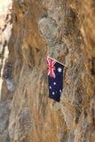 在石头的旗子 免版税库存照片
