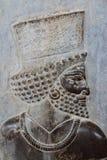 在石头的波斯波利斯浅浮雕 库存图片