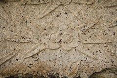 在石头的浅浮雕 库存图片