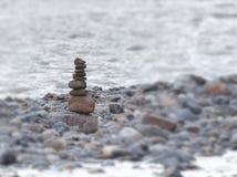 在石头的石头在石头 免版税图库摄影