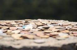 在石头的铁硬币在Olymp 库存图片