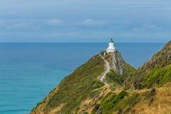 在矿块点新西兰的灯塔 免版税图库摄影
