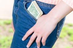 在矿穴的货币 免版税图库摄影