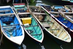 在码头的小船 免版税图库摄影