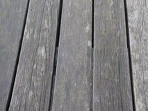 在码头的木板条在河梅德韦 图库摄影