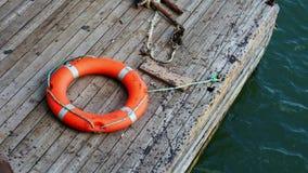 在码头的Lifebuoy 影视素材